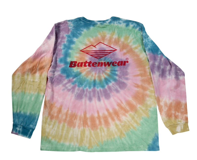 Team L/S Pocket Tee, Spiral Tie Dye