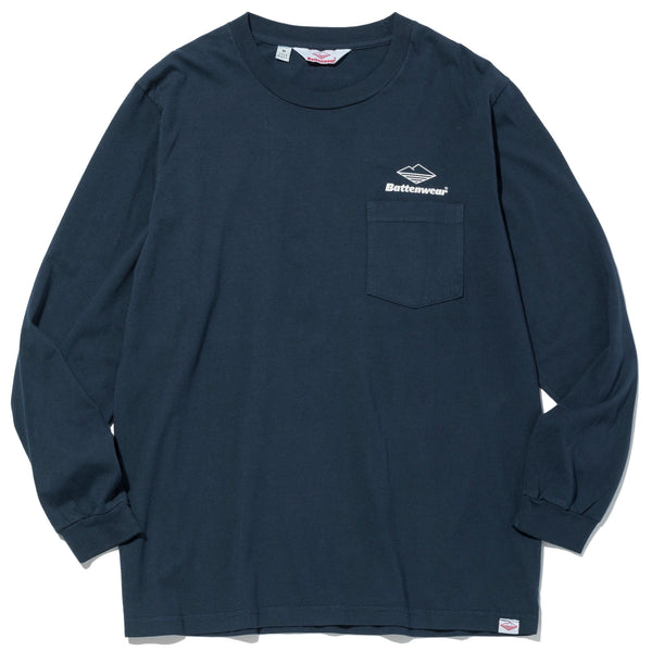 Team L/S Basic Pocket Tee, Navy