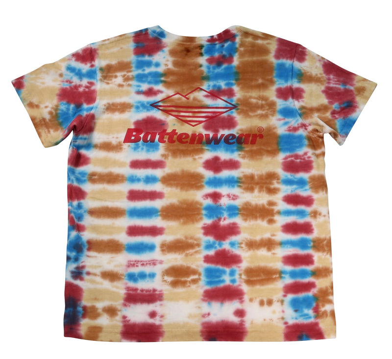 Team S/S Pocket Tee, Parallel Tie Dye