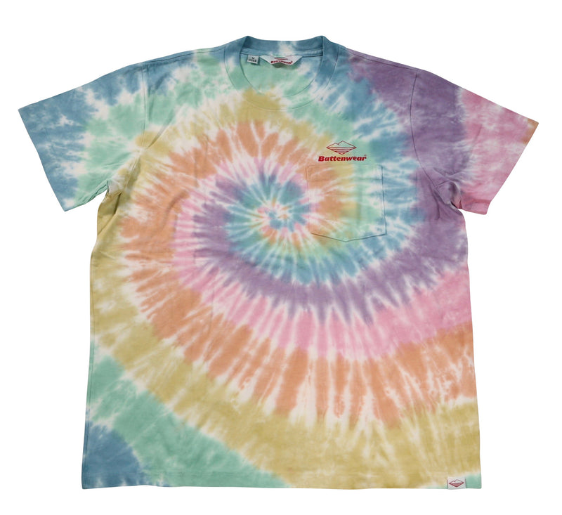 Team S/S Pocket Tee, Spiral Tie Dye