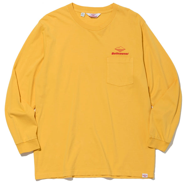 Team L/S Basic Pocket Tee, Mustard