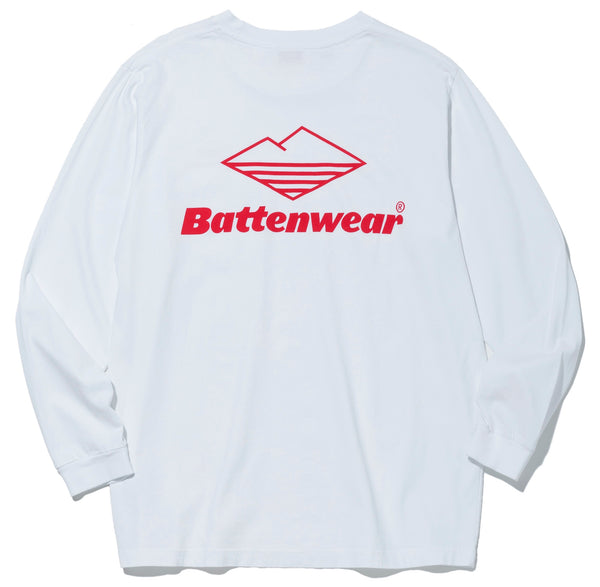 Team L/S Basic Pocket Tee, White