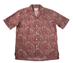 Zuma Shirt, Red Paisley