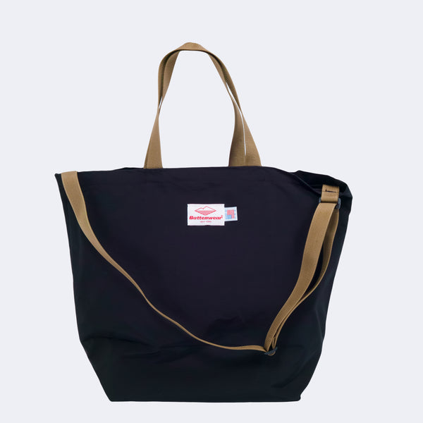 Packable Tote, Black 60/40 Cloth