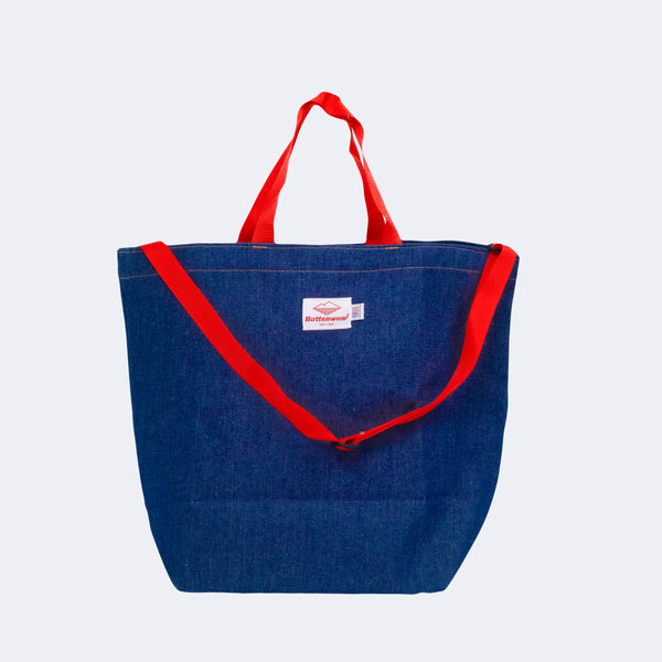 Denim Tote (with strap), Blue