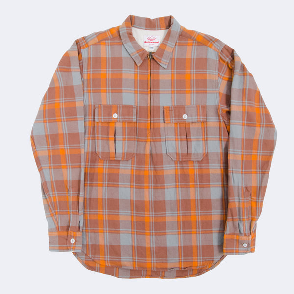 Garage Shirt, Butterscotch/Blue Plaid