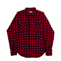 Camp Shirt, Black x Red