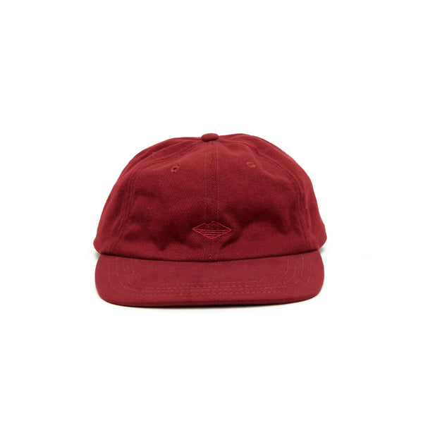 Field Cap, Maroon Brushed Denim