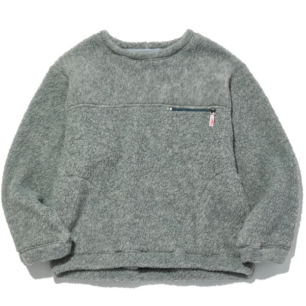 Lodge Crewneck, Heather Grey