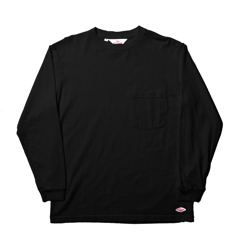 L/S Basic Pocket Tee, Black
