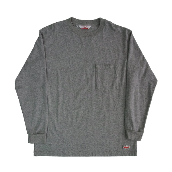 L/S Basic Pocket Tee, H Grey
