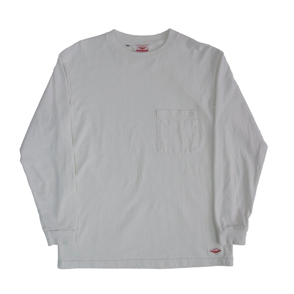 L/S Basic Pocket Tee (FW19), White
