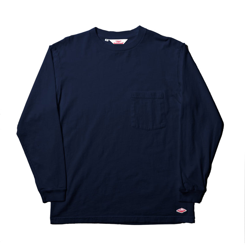 SAMPLE OF L/S Basic Pocket Tee (FW19), Navy