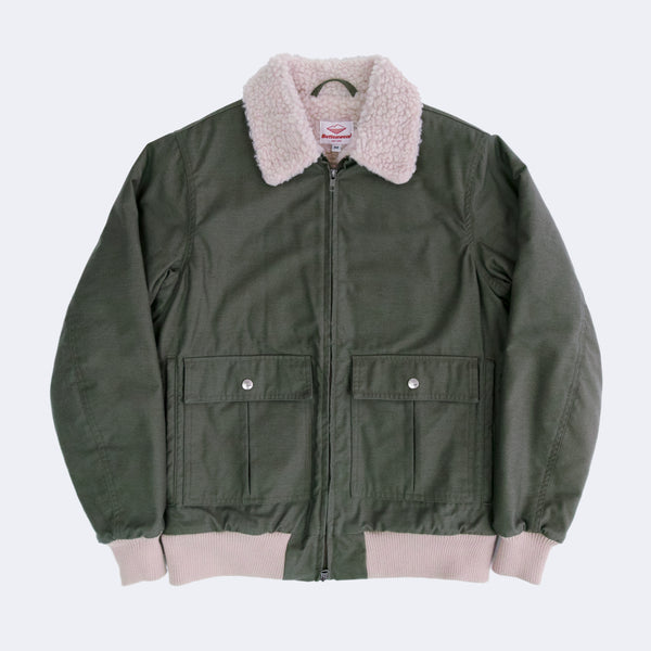 Shearling Flyer Jacket, Olive