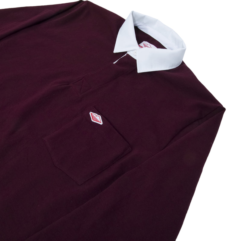 Pocket Rugby Shirt, Maroon 12oz Jersey
