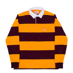 Pocket Rugby Shirt, Maroon x Gold 12oz Jersey