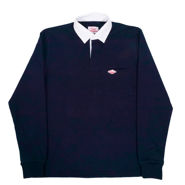 Pocket Rugby Shirt, Navy 12oz Jersey