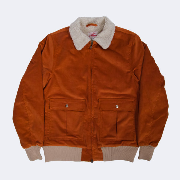 SAMPLE OF Shearling Flyer Jacket, Russet
