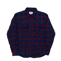 Work Shirt, Navy x Burgundy