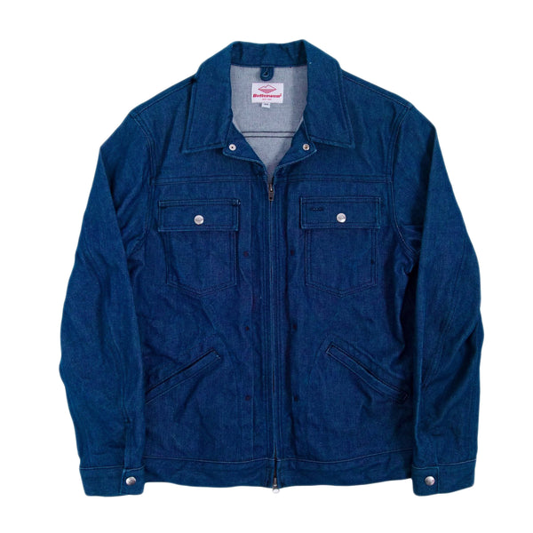 Zip Trucker Jacket, Blue