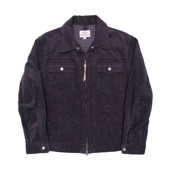 Zip Trucker Jacket, Charcoal
