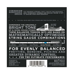 D'Addario EXL115BT Nickel Wound Electric Guitar Strings, Balanced Tension Medium Blues/Jazz Rock, 11-50