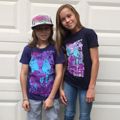 Psychedelic Horse Kids T-shirt (Navy)