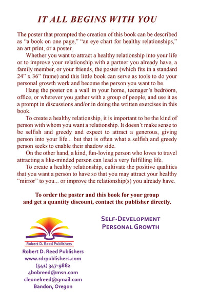 The Path to Healthy Relationships Poster and accompanying book, IT ALL BEGINS WITH YOU