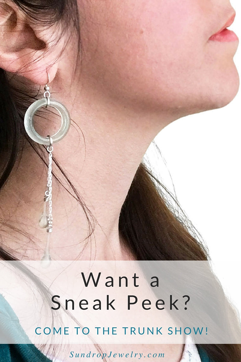 Get a sneak peek at new glass earrings made from recycled coke bottles - and more!