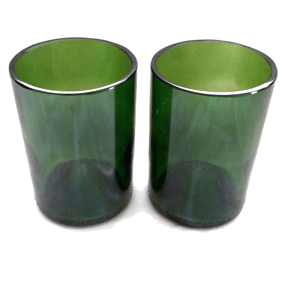 Giveaway - recycled wine bottle glasses by Groovy Green Glass
