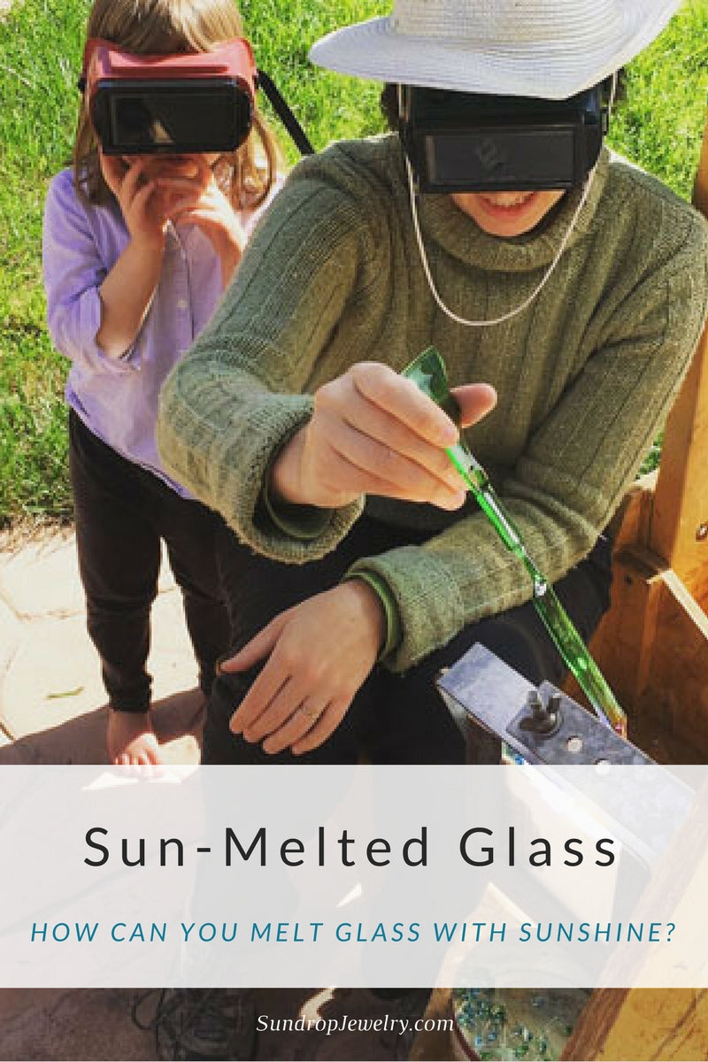 How can you melt glass with sunshine?