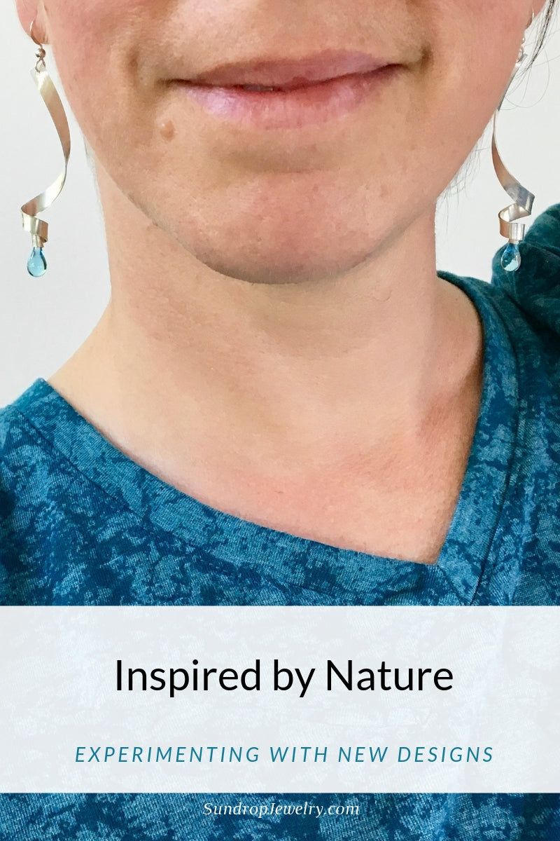 New sun-melted glass earring designs inspired by nature