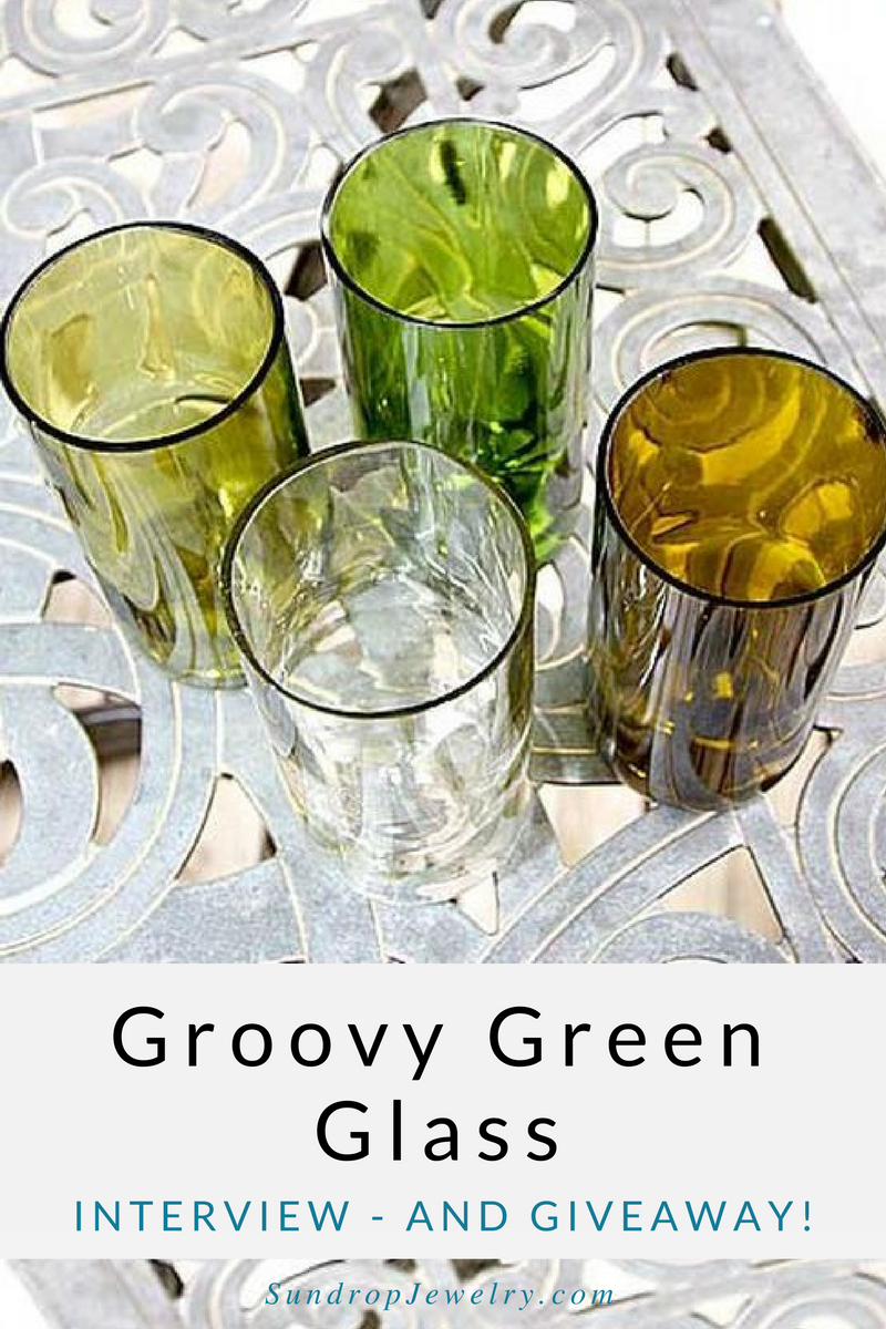 Interview with Groovy Green Glass by Sundrop Jewelry