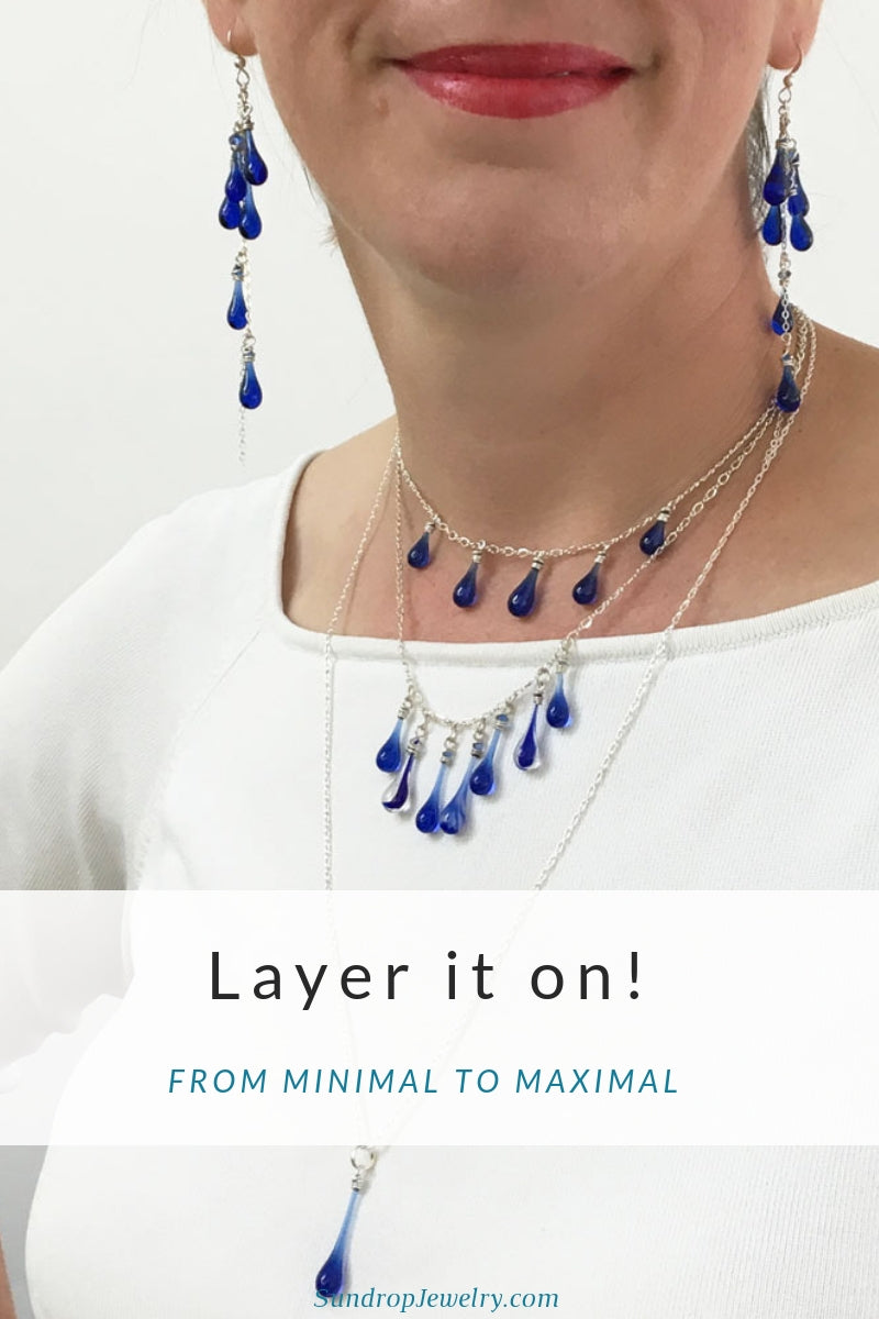 Layering choker and necklaces for maximum impact