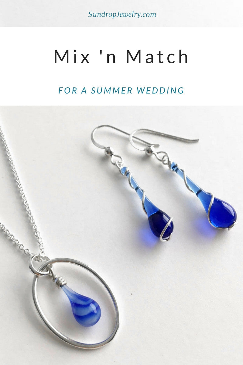 Mix and match jewelry for a summer wedding