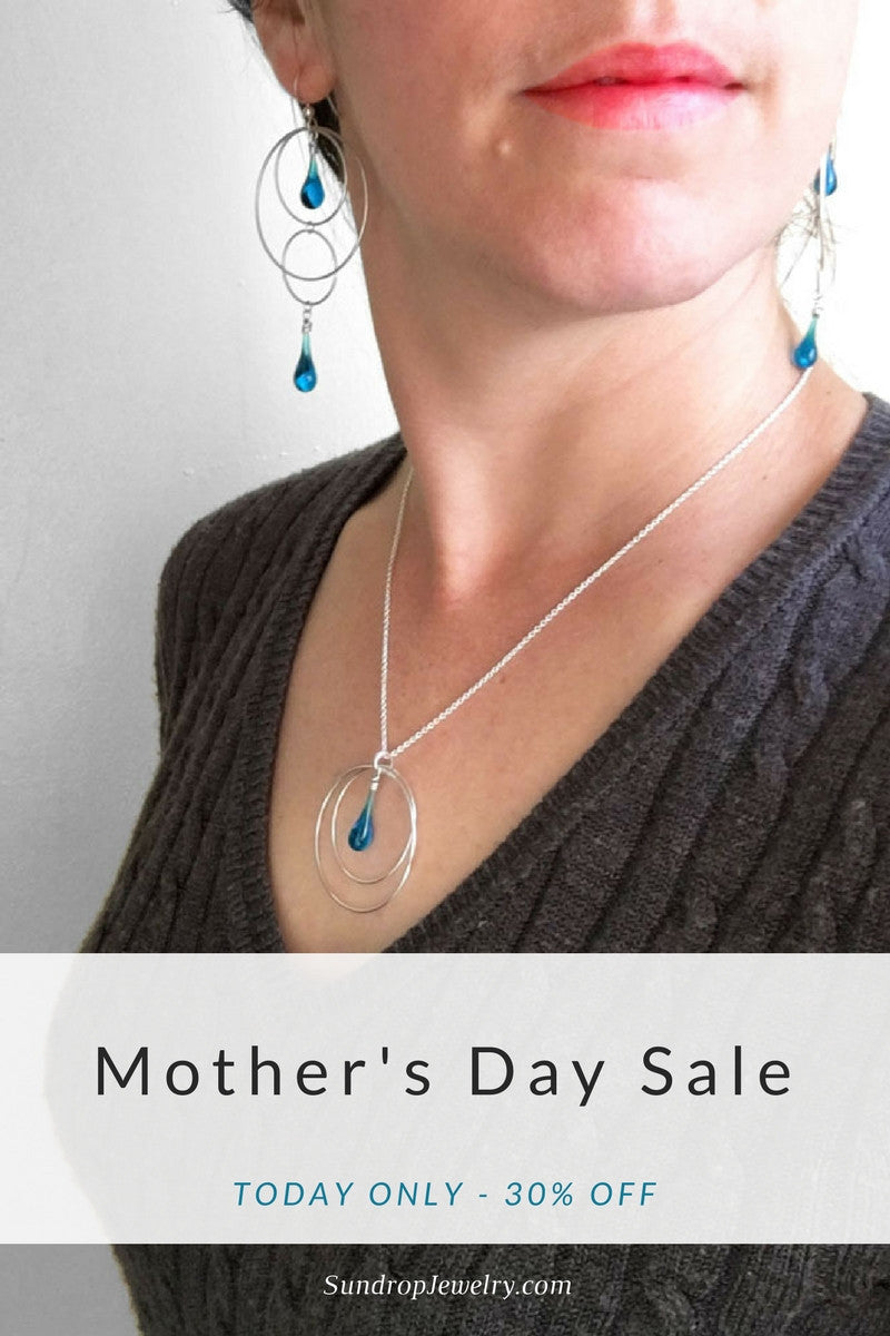 Mother's Day Sale - 30% off today only at SundropJewelry.com