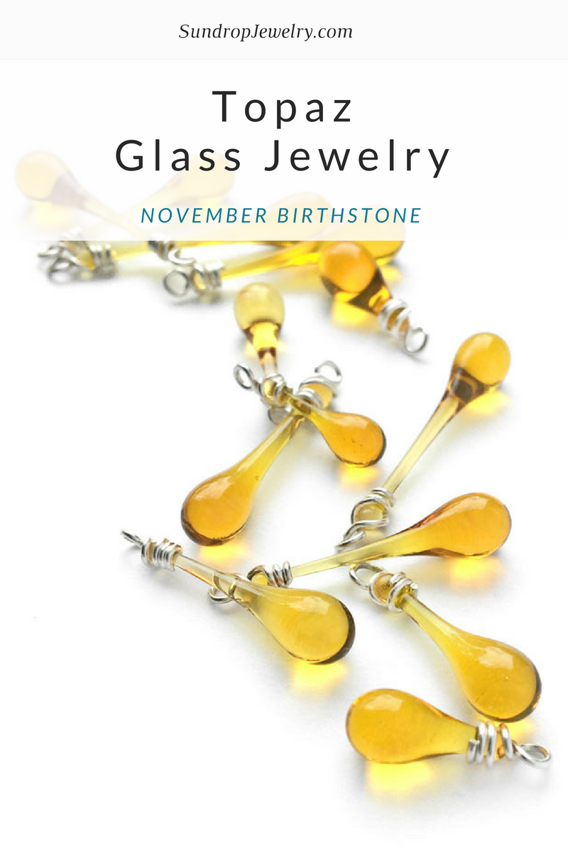 November gemstone - topaz color and fun facts by Sundrop Jewelry
