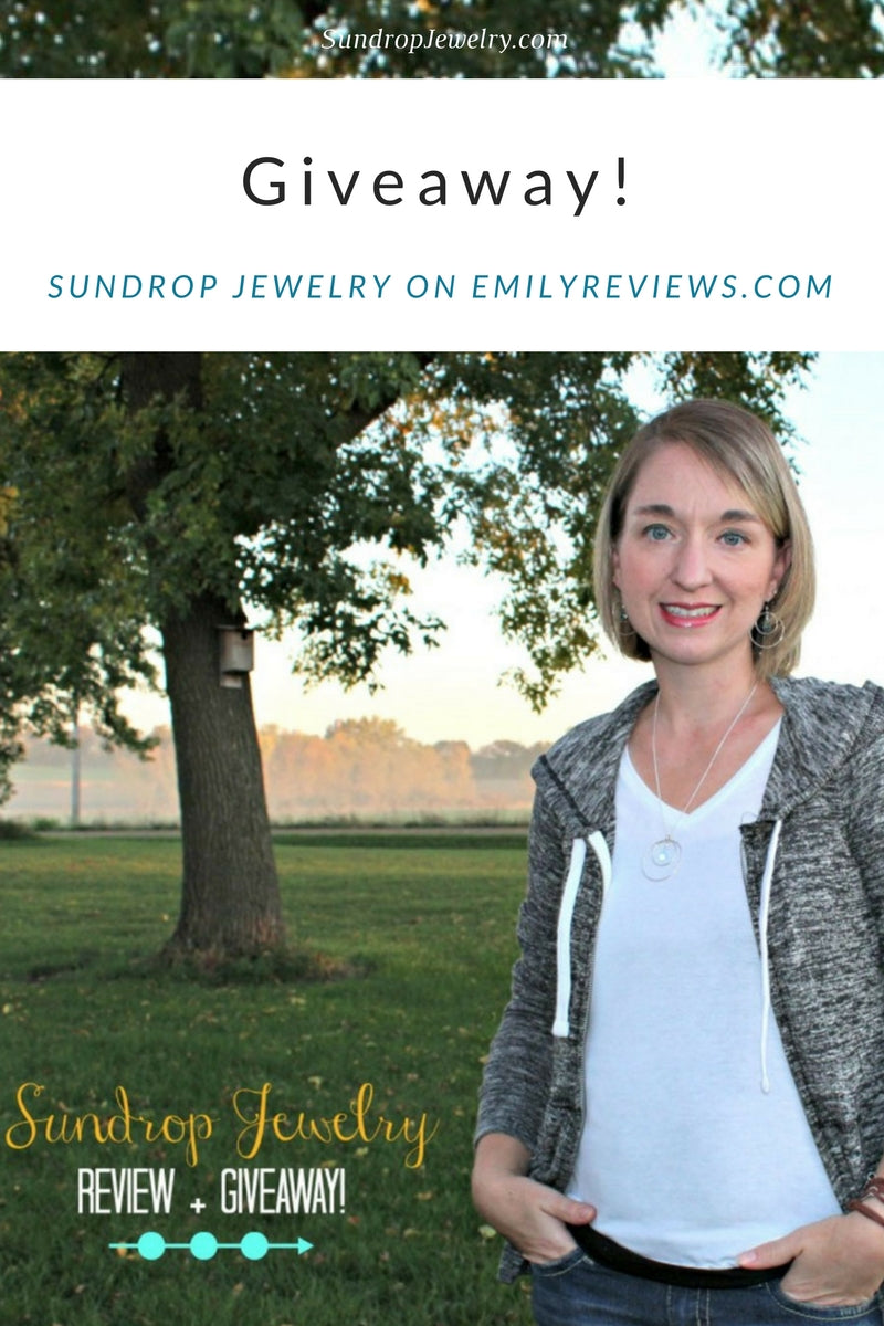 Sundrop Jewelry giveaway on EmilyReviews