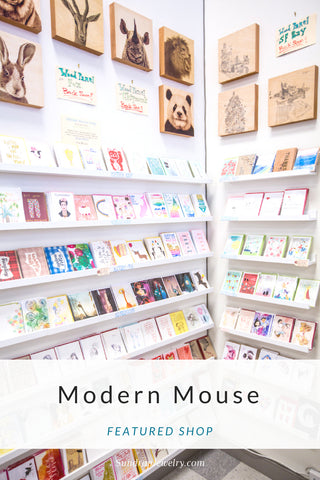Modern Mouse, featured shop on the Sundrop Jewelry blog