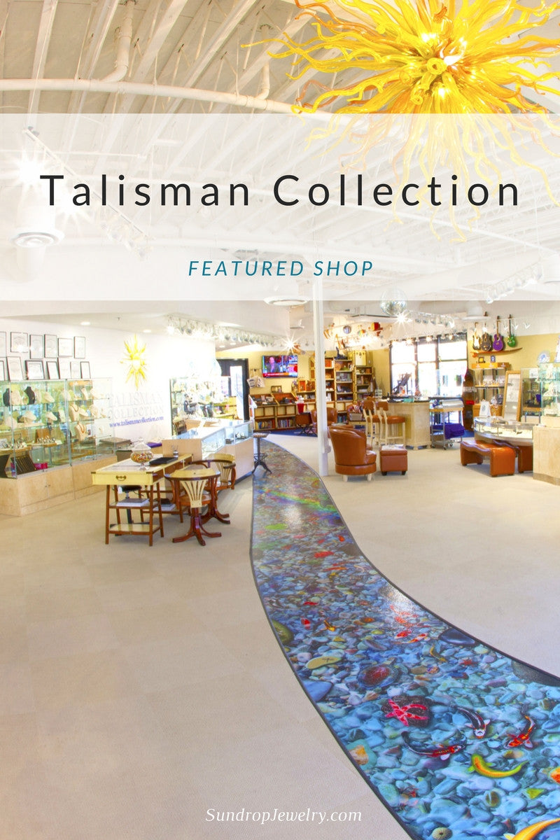 Talisman Collection jewelry store, featured shop on the Sundrop Jewelry blog