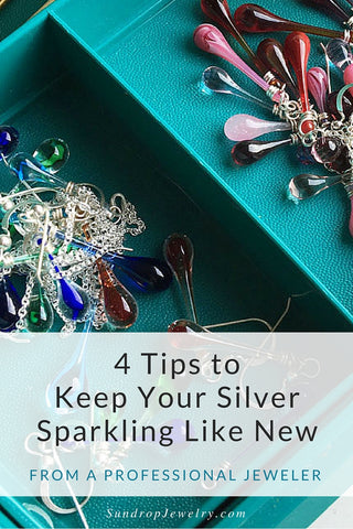 Tired of polishing silver?  4 Tips to keep your silver sparkling like new.