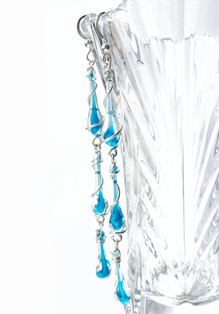 Aqua Tornado Calypso Earrings