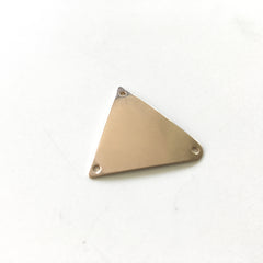 Bronze triangle all polished and shiny