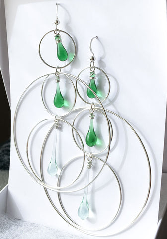 Large Circles Ear Rings - made from Coca-Cola and ginger ale bottles