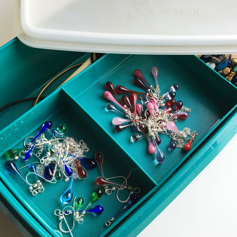 Storing jewelry in a airtight container keeps it from tarnishing