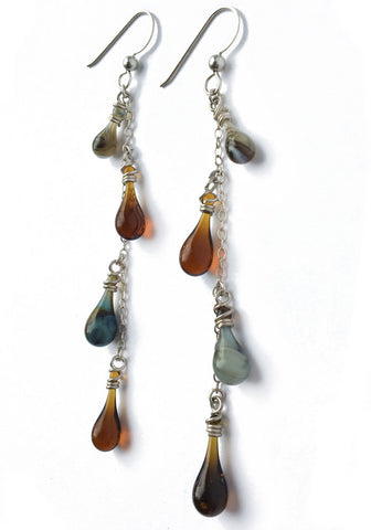 Brown Vinyas Earrings