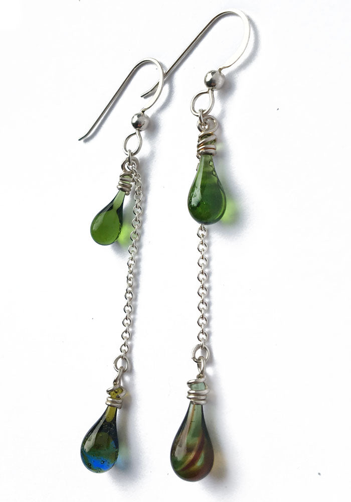 Green Eriantha Earrings