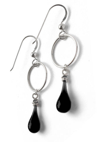 Black Meteorite Earrings