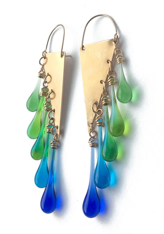 Bronze Rainforest Fringe Earrings