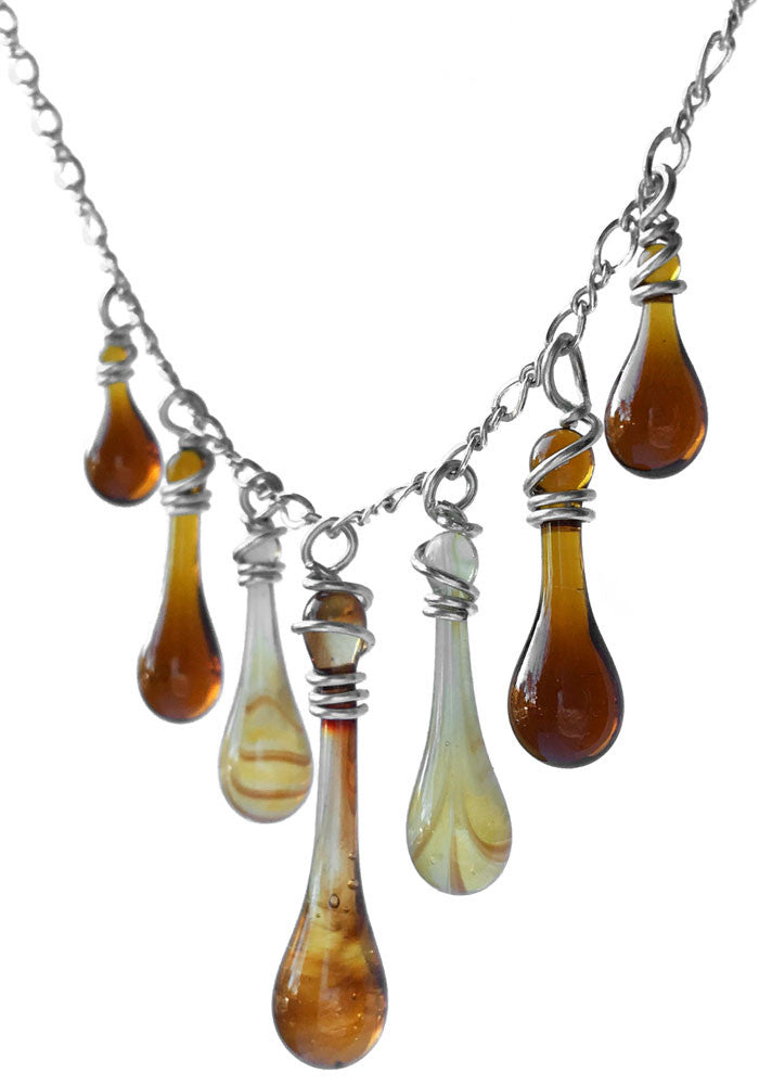 Champagne Multi Drop Necklace